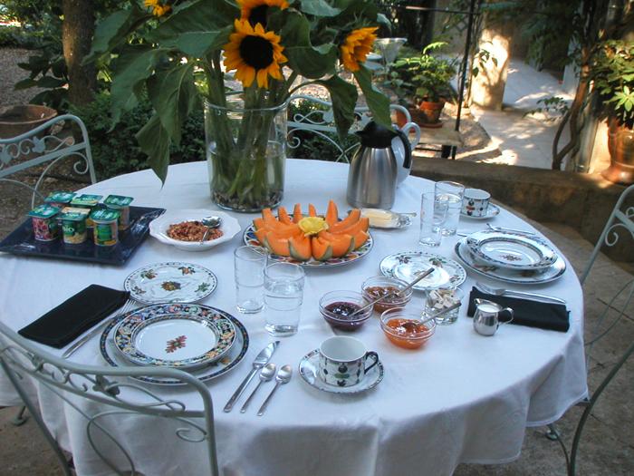 A Le Lavandin breakfast